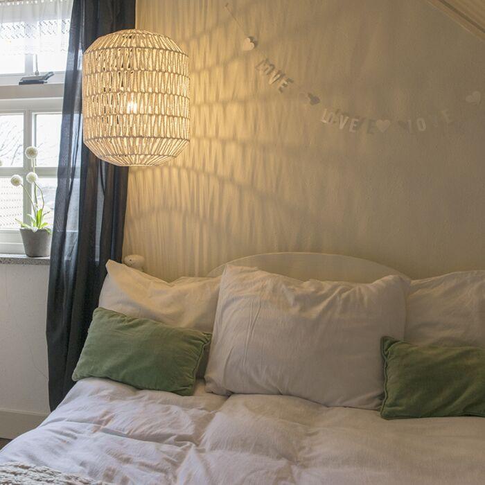 Lampe-suspendue-rétro-blanche-40-cm---Lina-Hive-40