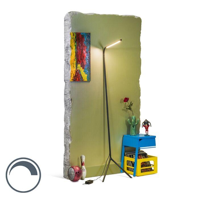 Lampadaire-design-noir-LED-incl.---Lazy-Lamp