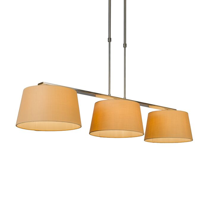 Suspension-Combi-Delux-3-abat-jours-ronds-30cm-beige