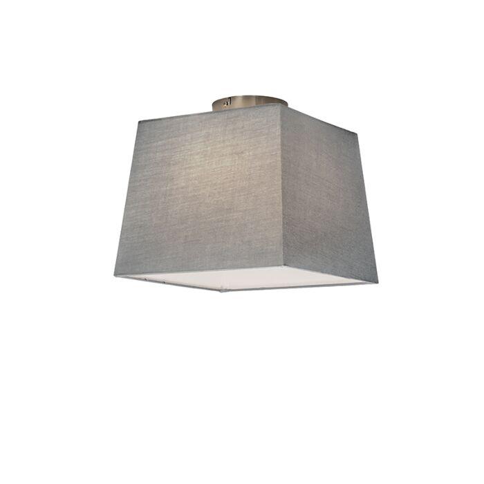 Plafonnier-Combi-30cm-carré-gris