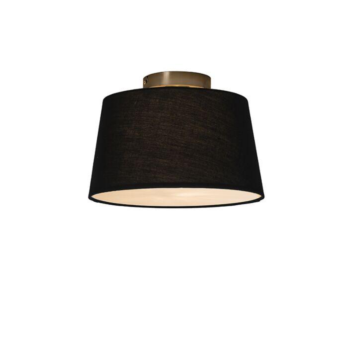 Plafonnier-Combi-30cm-noir-avec-tamiseur