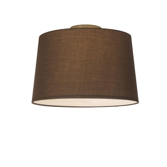 Plafonnier-Combi-40cm-brun-avec-tamiseur