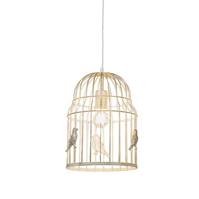 Lampe-supsension-Birdcage-Blanche