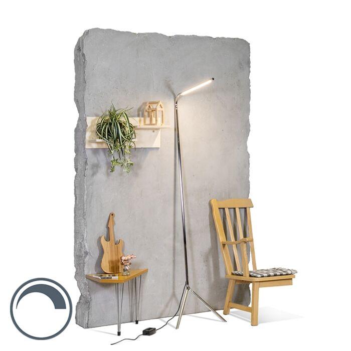 Lampadaire-design-chrome-LED-incl.---Lazy-Lamp