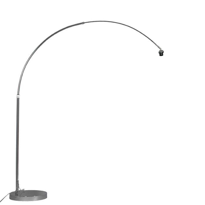 Lampe-à-arc-moderne-chrome-réglable-sans-abat-jour