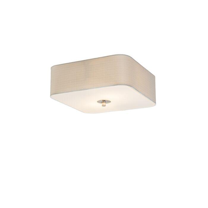 Plafonnier-carré-blanc-30-cm---Tambour-deluxe-Jute