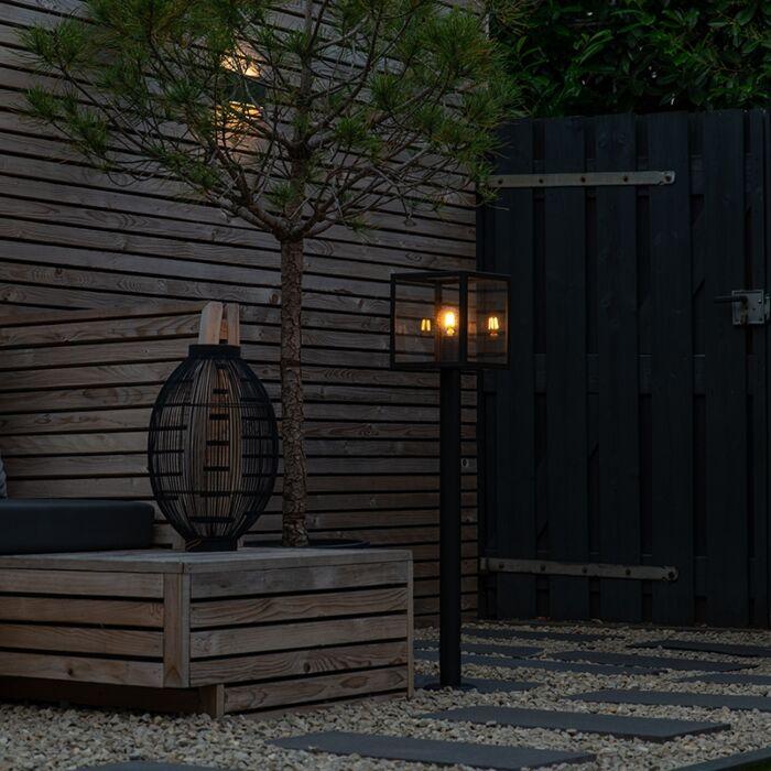 Lampadaire-de-jardin-moderne-noir-100-cm---Rotterdam