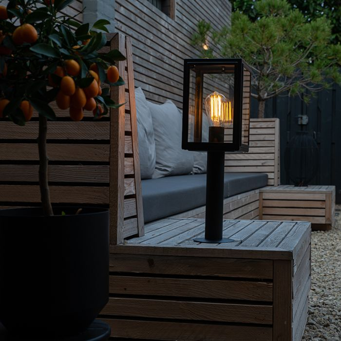 Lampadaire-d'extérieur-gris-50-cm-IP44---Sutton