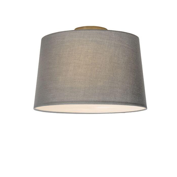 Plafonnier-Combi-40cm-gris-avec-tamiseur