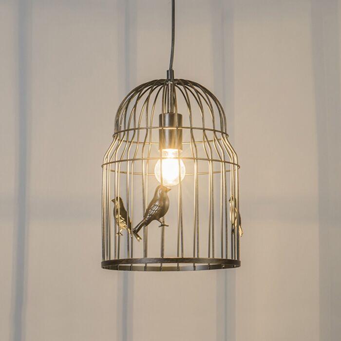Suspension-Art-Déco-Rouille---Birdcage