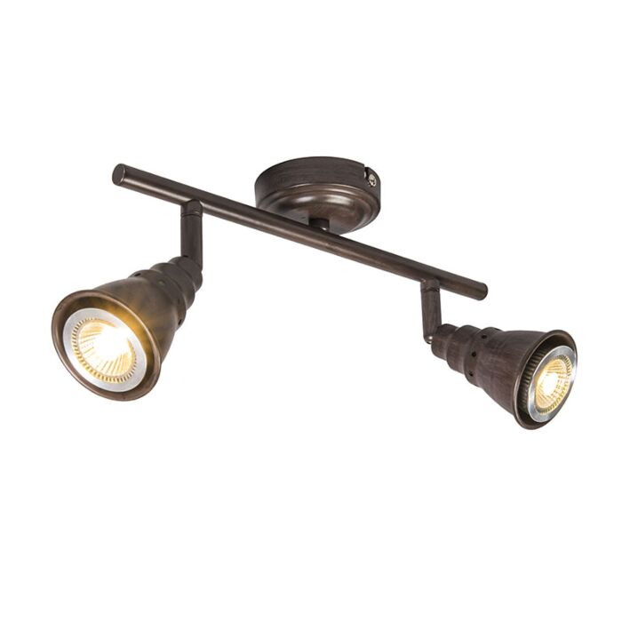 Spot-de-plafond-et-de-mur-pivotant-et-inclinable-brun-rouille---Coney-2