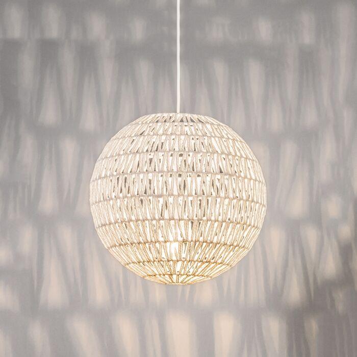 Lampe-suspendue-rétro-blanche-40-cm---Lina-Ball-40