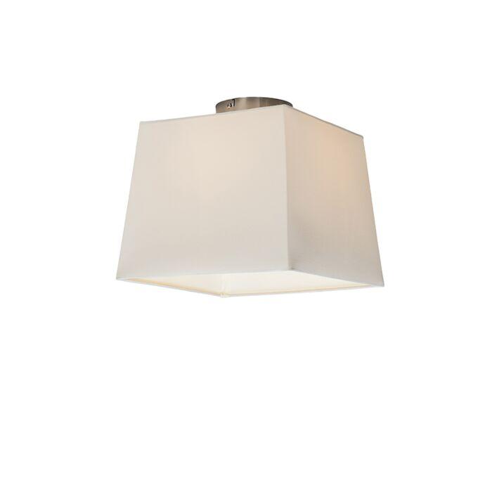 Plafonnier-Combi-30cm-carré-blanc