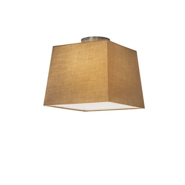 Plafonnier-Combi-30cm-carré-beige