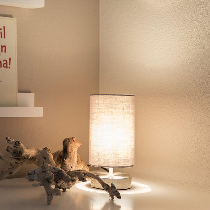 Lampe-de-table-moderne-gris-avec-acier---Milo-2