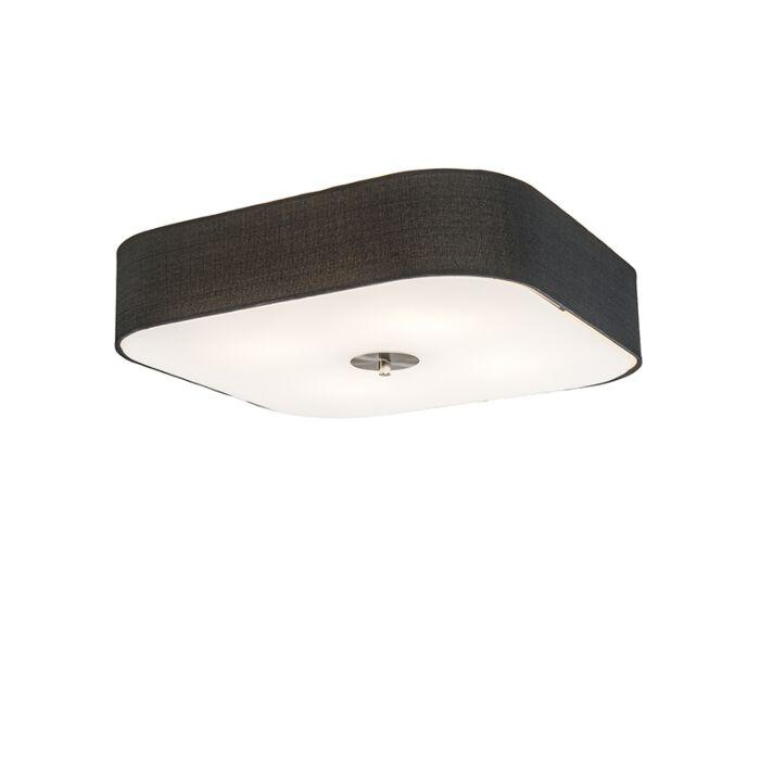 Plafonnier-carré-noir-50-cm---Tambour-deluxe-Jute