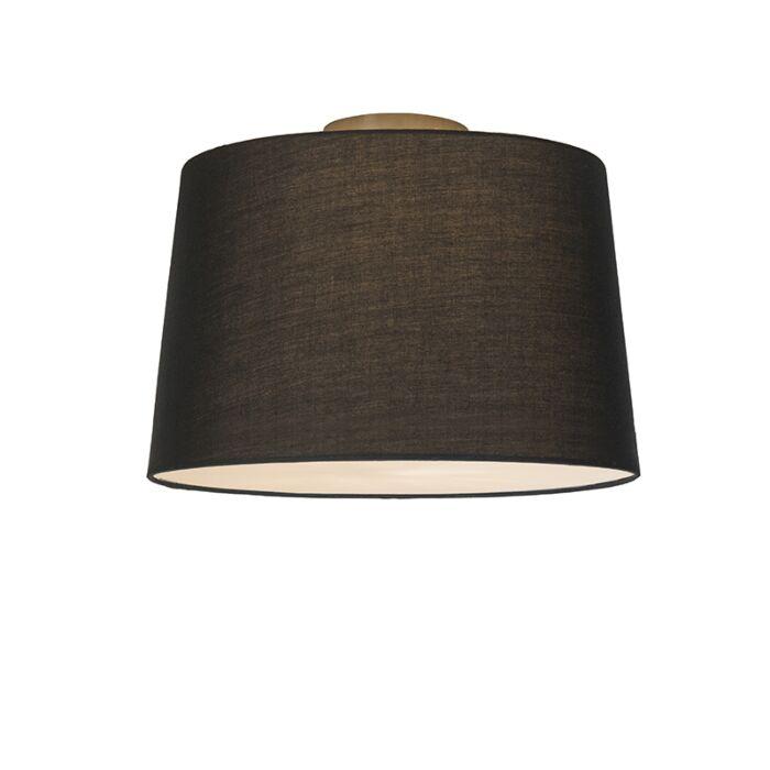 Plafonnier-Combi-40cm-noir-avec-tamiseur
