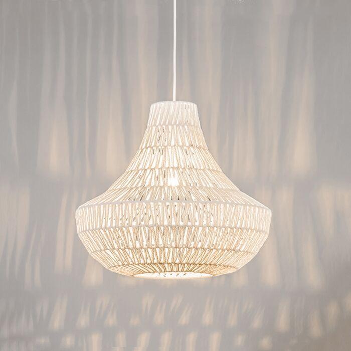 Lampe-suspendue-rétro-blanche-50-cm---Lina-Cono-50