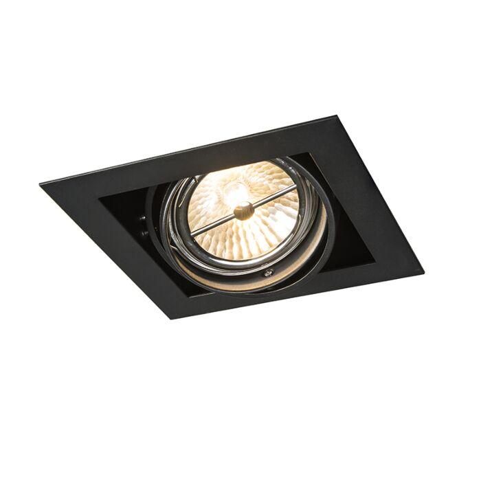 Spot-à-encastrer-carré-noir-réglable-1-lumière---Oneon-111-1