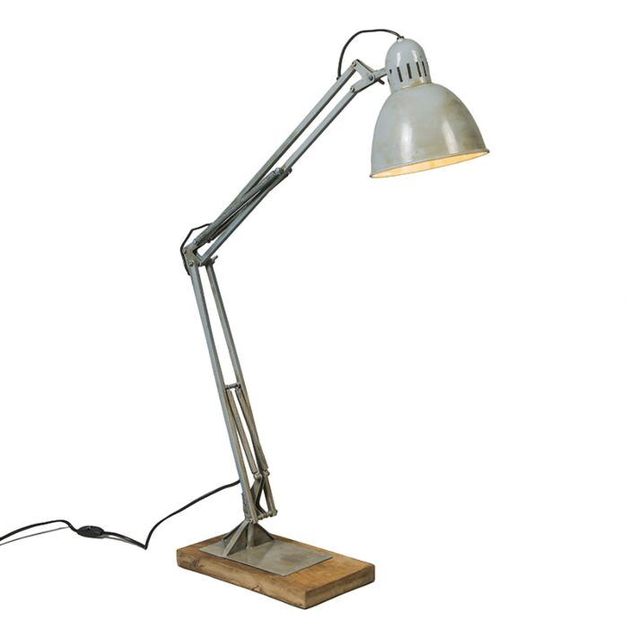 Lampe-de-table-Base-grise