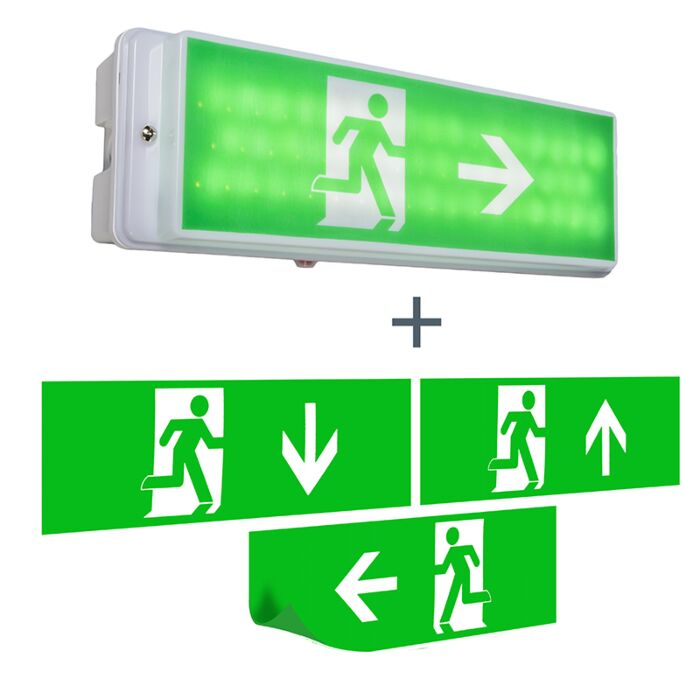 Applique-murale-pour-issue-de-secours-avec-LED-IP65---Emergency-2