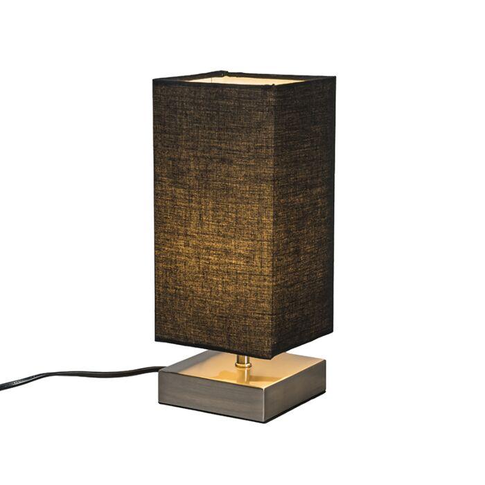 Lampe-de-table-moderne-noire-en-acier---Milo