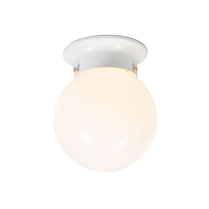 Plafonnier-rétro-verre-opale-blanc---Scoop