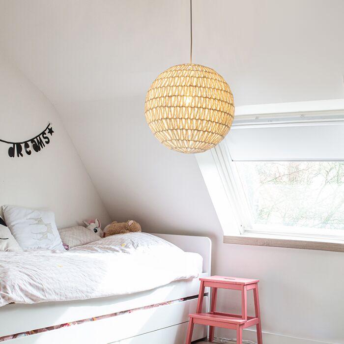Lampe-suspendue-rétro-blanche-60-cm---Lina-Ball-60