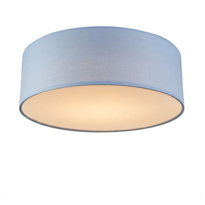 Plafonnier-bleu-30-cm-avec-LED---Drum-LED