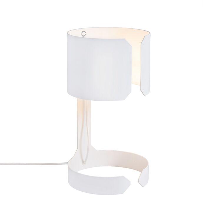Lampe-de-table-design-blanc---Valse