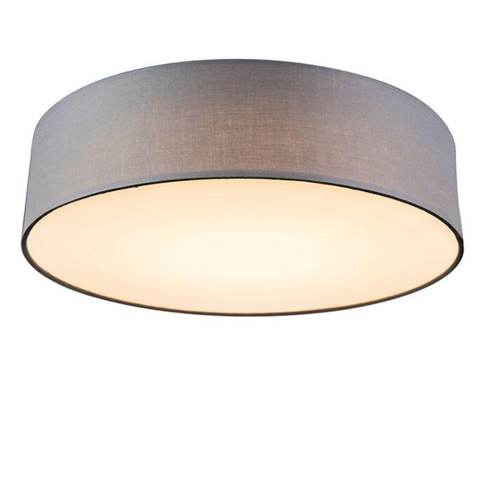 Plafonnier-gris-40-cm-avec-LED---Tambour-LED