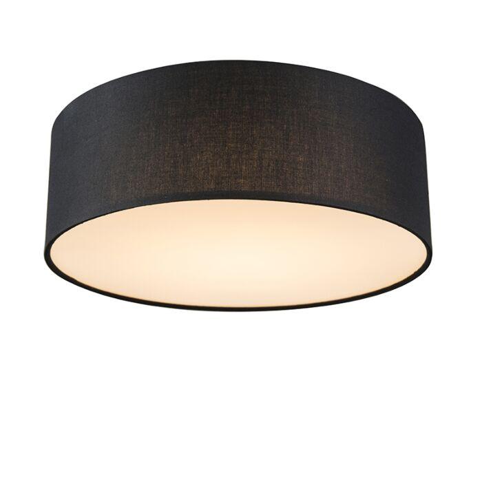 Plafonnier-noir-30-cm-avec-LED---Drum-LED