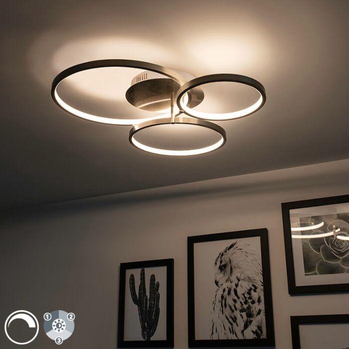 Plafonnier-moderne-en-acier-avec-LED-et-variateur-Rondas
