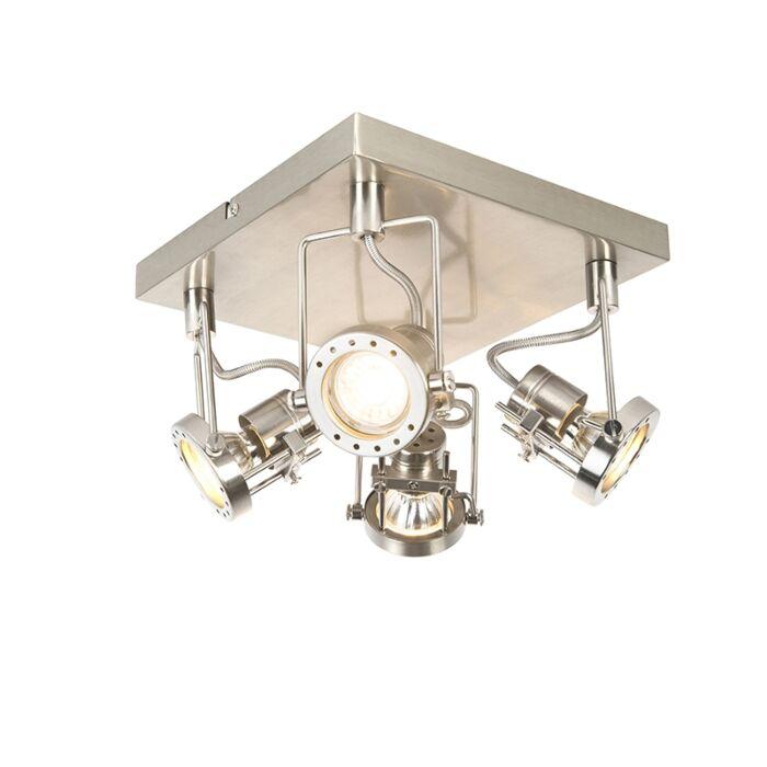 Projecteur-industriel-pivotant-et-inclinable-en-acier-à-4-lumières---Suplux