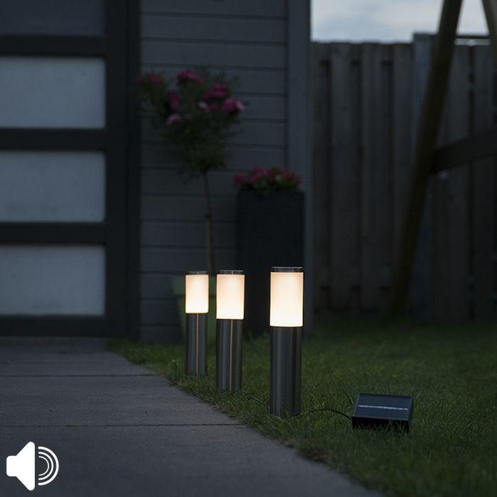 Acier-perforé-avec-LED-sur-l'énergie-solaire-set-de-3-IP44---Rox