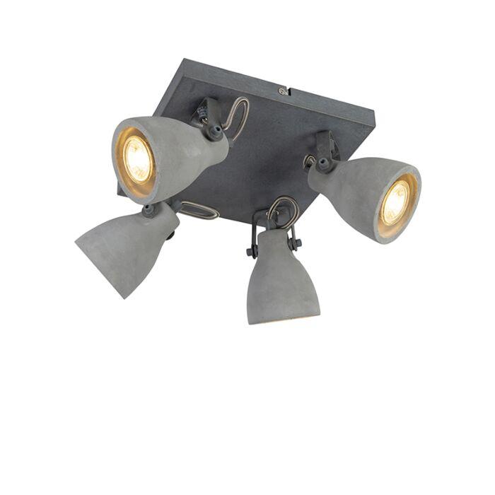 Spot-industriel-gris-béton-4-lumières---Creto