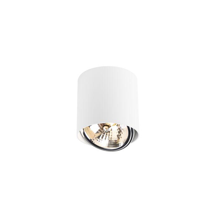 Cylindre-de-spot-design-blanc-avec-LED---Impact-Up-G9