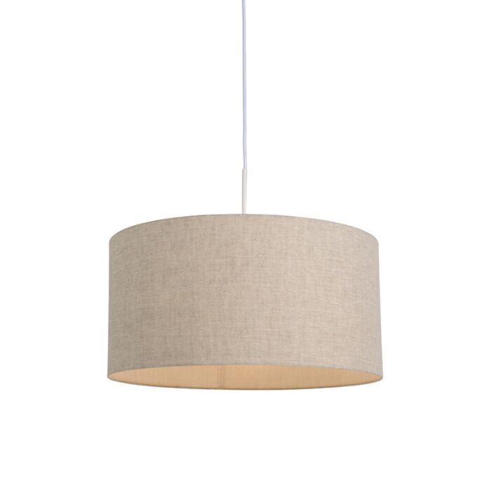 Suspension-pays-blanc-avec-abat-jour-beige-50-cm---Combi-1