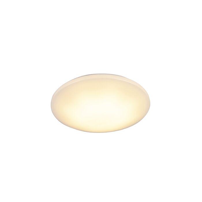Plafonnier-moderne-blanc-incl.-LED-15W-IP44---Tiho