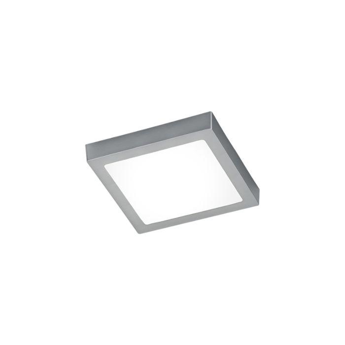 Plafonnier-carré-moderne-LED-avec-verre-en-acier-léger---Boy