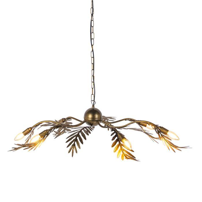 Suspension-vintage-6-lumières-en-or---Botanica