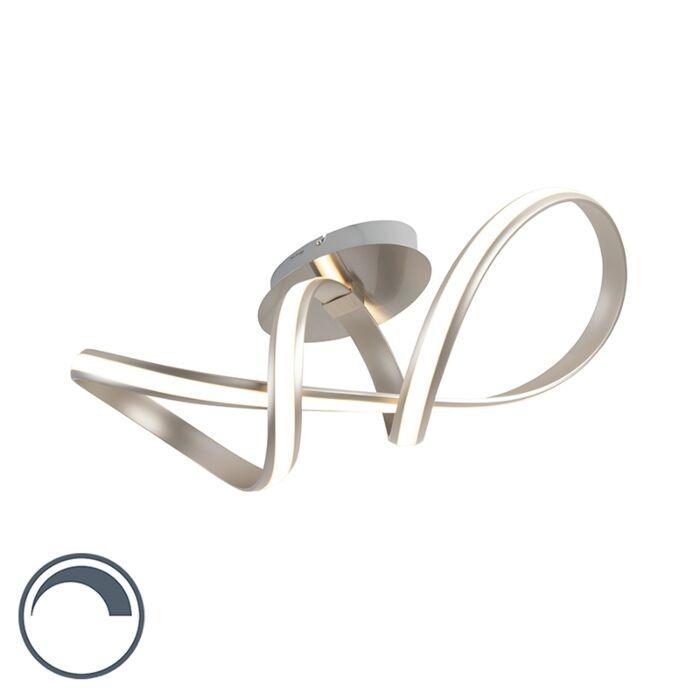Plafonnier-moderne-en-acier-avec-LED-et-dimmer---Belinda