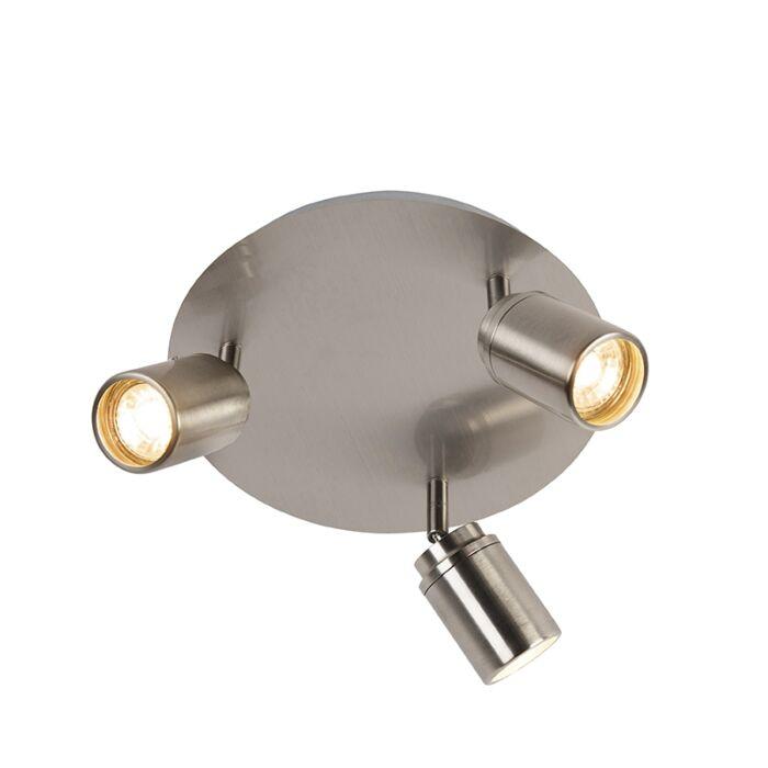Spot-de-salle-de-bain-moderne-en-acier-3-lumières-IP44---Ducha