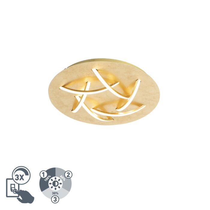 Plafonnier-Art-Déco-or-avec-LED---Delphina