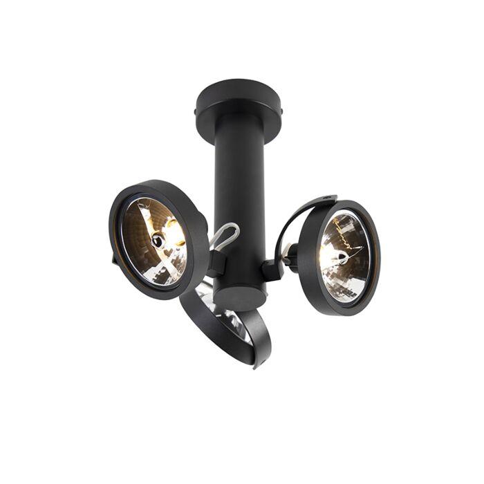 Spot-design-réglable-à-3-lumières,-y-compris-G9-noir---Goes