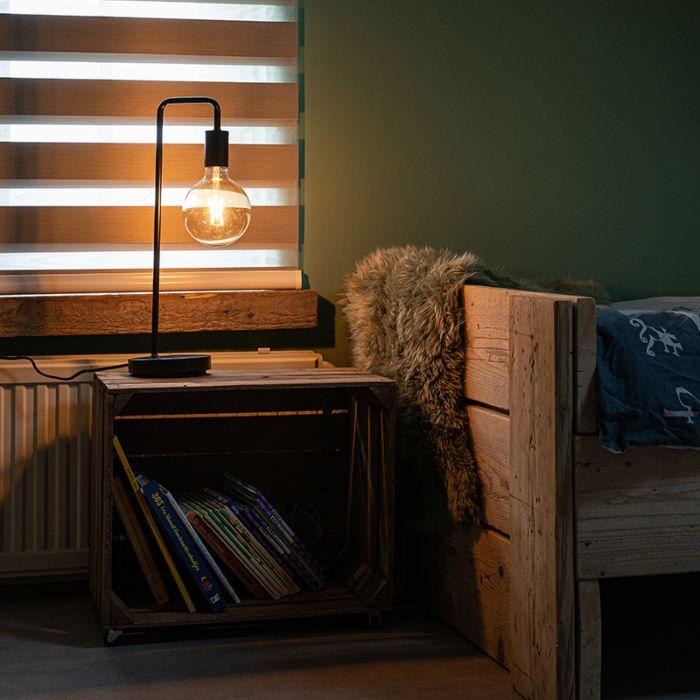 Lampe-de-table-moderne-noire---Facil
