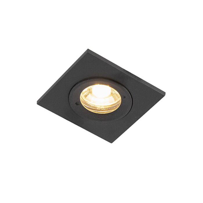 Spot-encastrable-moderne-noir-IP44---Xena-Square