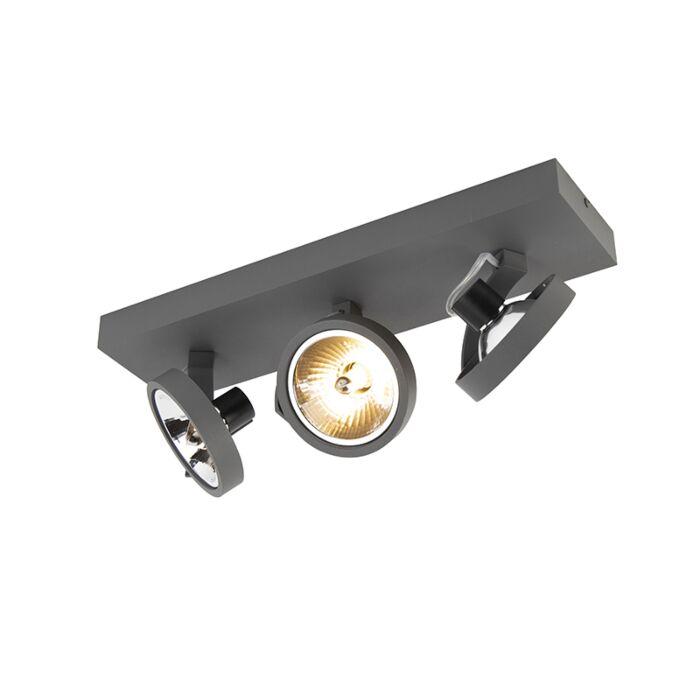 Spot-design-réglable-à-3-lumières,-y-compris-LED---Go