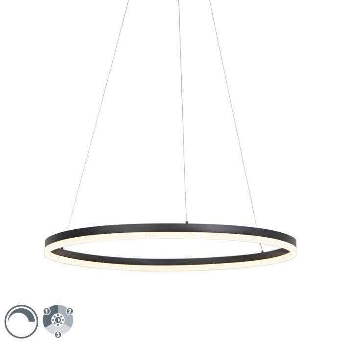 Suspension-design-anneau-noir-80cm-avec-LED-et-dimmer---Anello