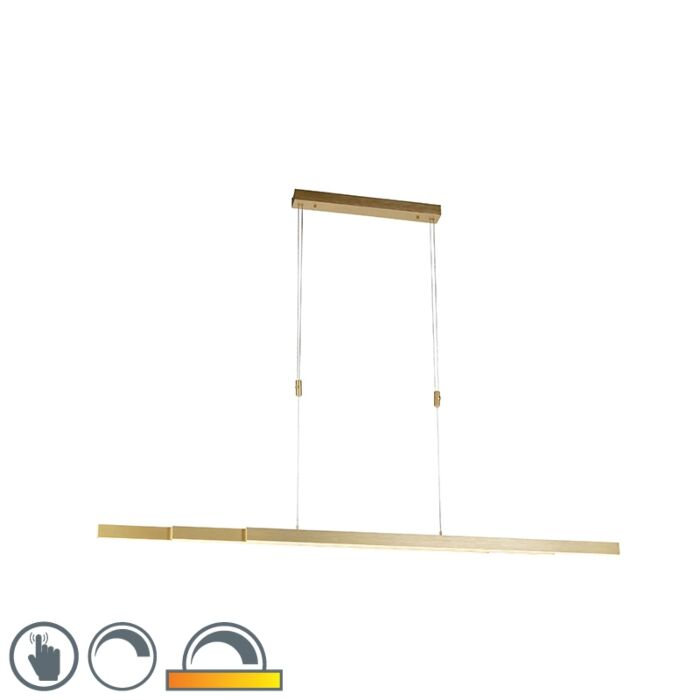 Suspension-réglable-en-laiton-dim-to-warm-avec-LED---Juliet